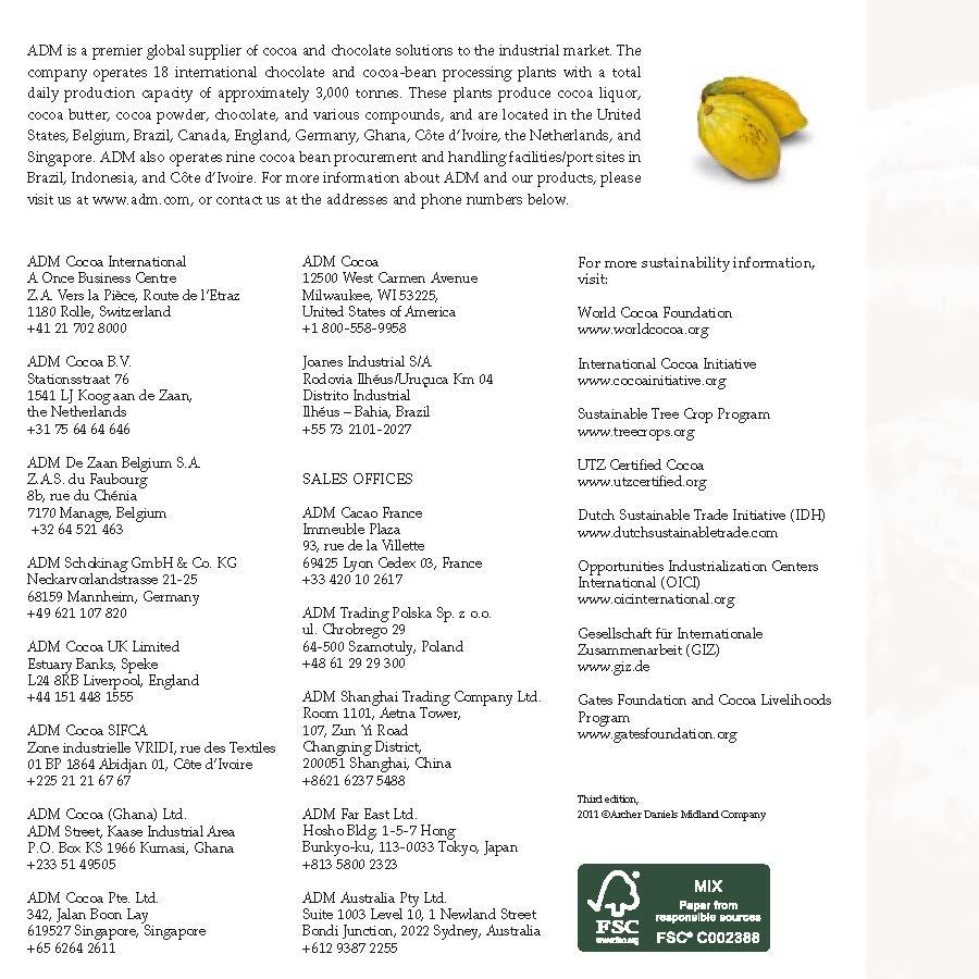 ADM Cocoa Sustainability   indonesia / KAKAO / CACAO / COCOA